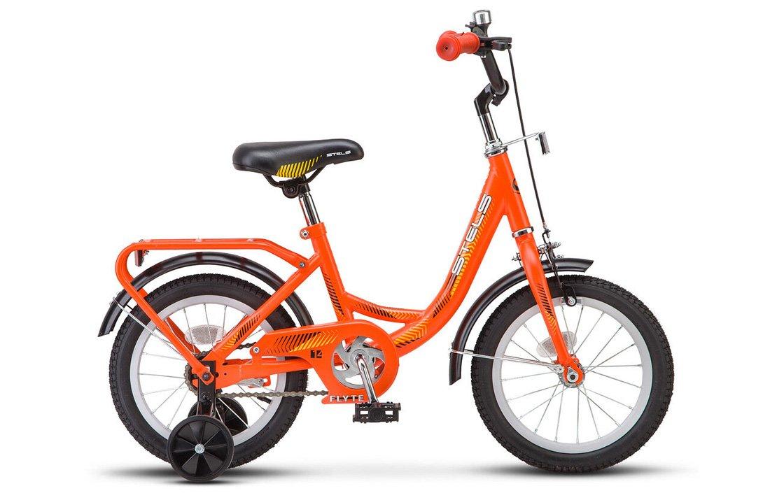 """Детский велосипед STELS Flyte Z011 14"""" 2020 (Рама: 9,5"""" (Рост: 90-110см), Цвет: оранжевый)"""