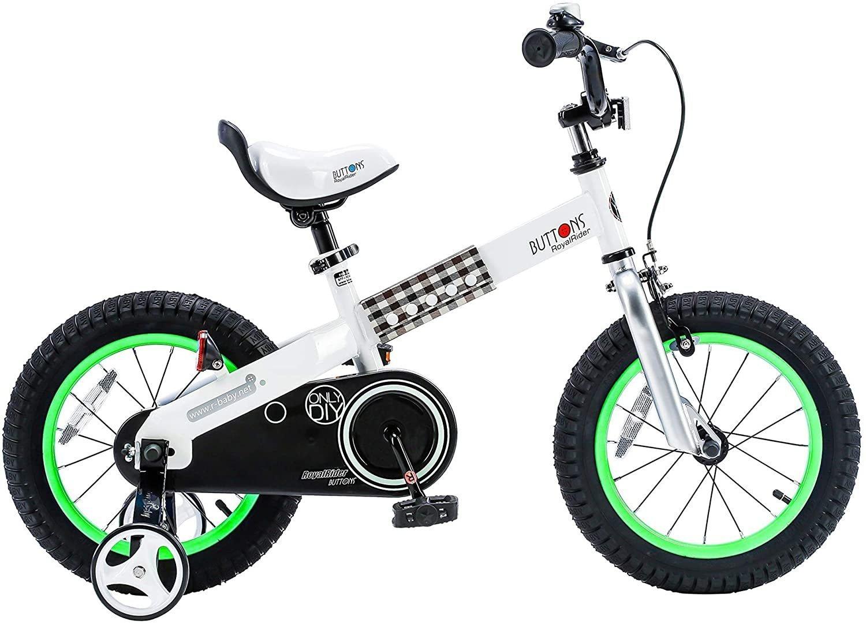 """Детский велосипед Royal Baby Buttons Steel 18"""" (Возраст: 5-9лет (Рост: 120-145см), Цвет: синий)"""