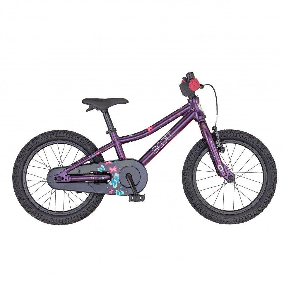 """Детский велосипед SCOTT Contessa 16"""", 10"""", 2020 (Рама: 16 (Рост: 110-135см.), Цвет: фиолетовый)"""