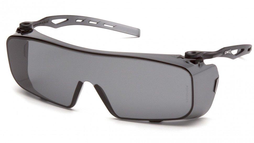 Очки велосипедные PYRAMEX Cappture, защитные, очки на очки с диоптриями, серые линзы, S9920ST