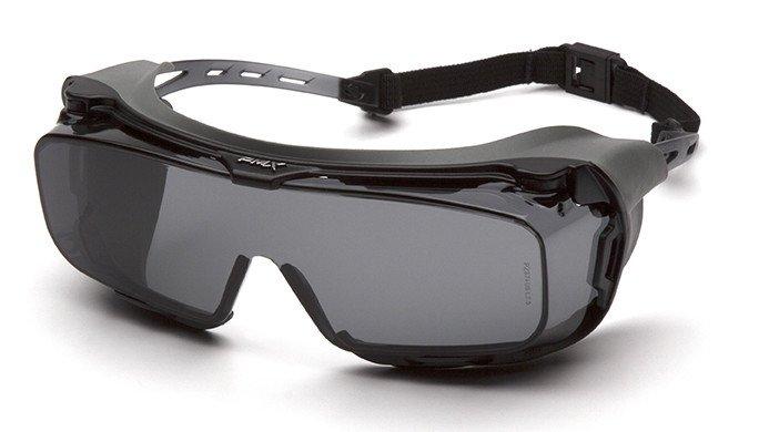Очки велосипедные PYRAMEX Cappture, защитные, очки на очки с диоптриями, серые линзы, S9920STMRG