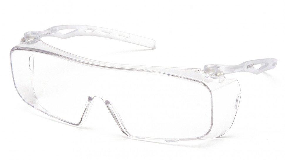 Очки велосипедные PYRAMEX Cappture, защитные, на очки с диоптриями, с прозрачными линзами, S9910ST