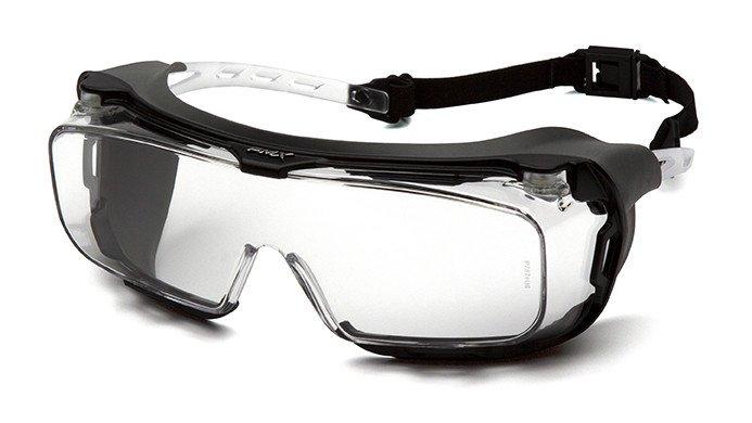 Очки велосипедные PYRAMEX Cappture, защитные, очки на очки с диоптриями, с прозрачными линзами, S9910STMRG