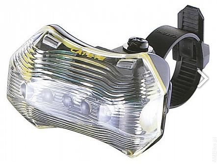 Фонарь велосипедный CAT EYE TL-LD170-B-W, габаритный, корпус черный, стекло прозрачное, лампа белая, CE5440821