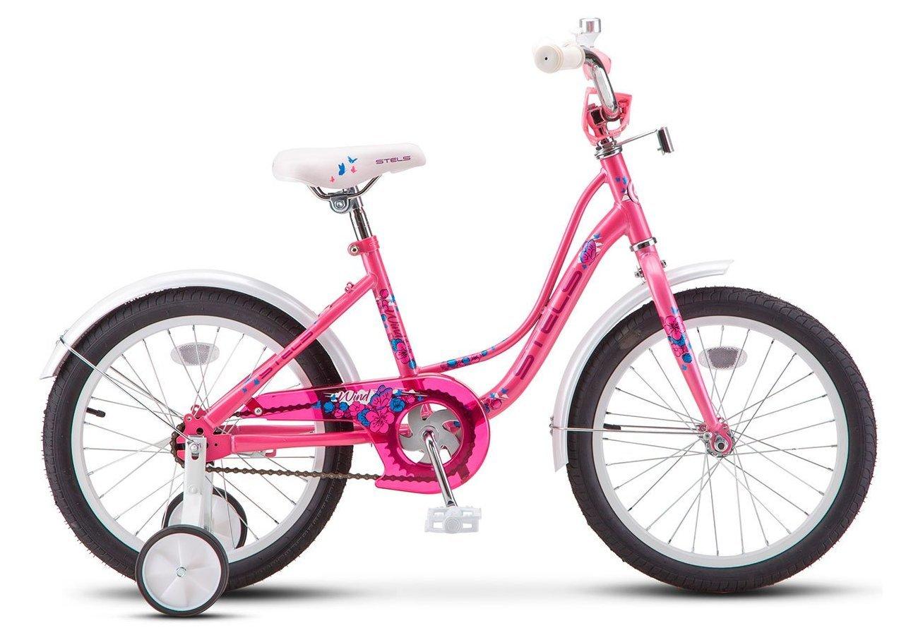"""Детский велосипед STELS Wind Z020 18"""" 2019 (Рама:12  (Рост: 115 - 130  см), Цвет: розовый)"""