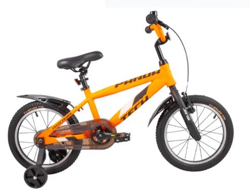 """Детский велосипед TECH TEAM PANDA 18"""" 2020 (Возраст 4–7 лет (Рост: от 110 до 120 см.), Цвет: неоново-зеленый )"""