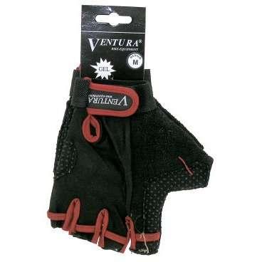 Перчатки 5-719972   р-р XL цвета в ассортименте с петельками VENTURAВелоперчатки<br>гелевые, с лайкрой, дыщащий материал, ладонь с антискользящим покрытием, с петельками для более легкого и удобного снятия с ладони, эластичная манжета на липучке, черные, блистер<br>Доступные цвета: красный, серый, синий<br>