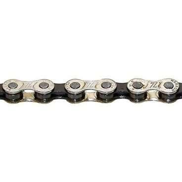 Велосипедная цепь KMC 6-051 Z51, 18-21 скорости, 116 звеньев велосипедная цепь с замком clark s 1 2х3 32 24 скорости антикор хром 3 132