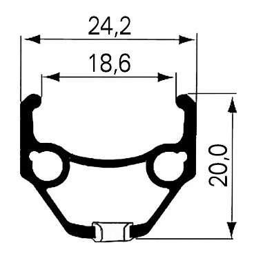 """Обод велосипедный REMERX 28"""" двойной 662х24.2/18.6х20, 36 отверстий, DRAGON L-719 5-380275 от vamvelosiped.ru"""