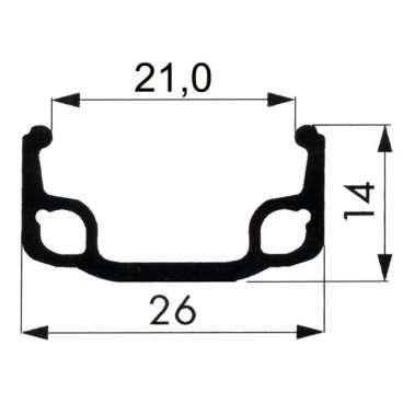 Обод велосипедный REMERX 28 одинарный (662х21/26,5) 36 отверстий, 5-380227