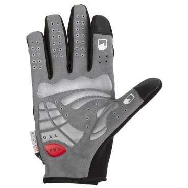 Перчатки длин. гель/лайкра дыш. д/сенсора антискольз. L (5) с защитой черно-серые M-Wave, 5-719858, арт: 7265 - Велоперчатки