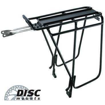 Багажник TOPEAK Super Tourist Tubular Rack DX, W/Side Bar, под дисковые тормоза, черный TA2036-B