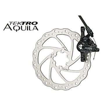 Торм. набор TEKTRO диск.мех.зад. Aquila MD-M500 (ротор 160мм+суппорт+колодки) облегч. черный 6-501 artway md 160