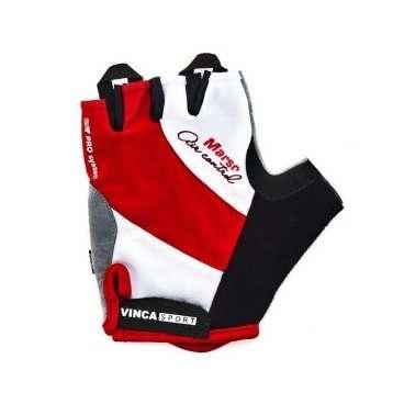 Перчатки велосипедные, MARSO, гелевые вставки, цвет белый с красным, размер ХS VG 933 red marso (XS)Велоперчатки<br>Перчатки велосипедные, MARSO, гелевые вставки, цвет белый с красным,  лёгкие воздухопроницаемые перчатки с усилением ладошки, плоской петлёй для снятия с руки и  липучкой;<br>Индивидуальная упаковка Vinca sport<br>Характеристики<br>Материал внешней сторонылайкра<br>Материал тыльной сторонысерая амара<br>Наличие гелягелевая вставка<br>Размер:  XS<br>Артикул: VG 933 red marso (XS)<br>