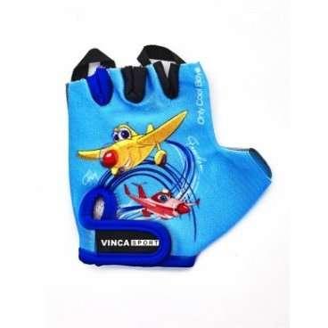 Перчатки велосипедные детские, PLANE, гел. вставки, цв. синий с синей окантовкой, р- р7XS VG 935 chi аксессуар vinca sport vg 935 child plane