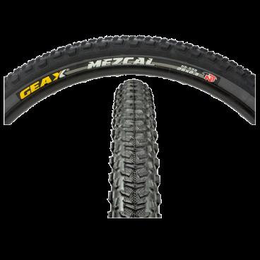 Покрышка велосипедная GEAX Mezcal II, TNT, 26x2.1, 112.3MC.32.54.611HDВелопокрышки<br>Велосипедная покрышка Geax Mezcal II, TNT, 26x2.1 обеспечивает превосходное сцепление с дорожным покрытием на крутых виражах.<br>Характеристики:<br><br>Вес: 630 г.<br><br>Размер: 26 x 2.1 см.<br><br>MTB<br><br>Борт покрышки: бескамерная, TNT<br><br>Применение: кросс-кантри, фрирайд<br><br>Диаметр: 26 дюймов<br>
