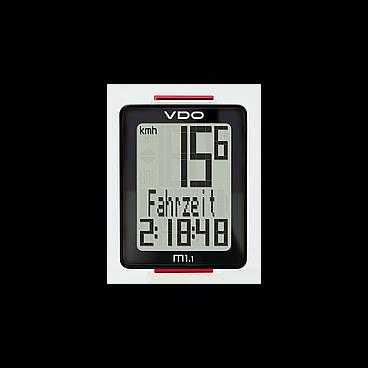 Велокомпьютер VDO M1.1 NEW 5 ф-ций дисплей 3 строки, проводной, черно-белый 4-30010
