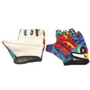 Перчатки кожаные TBS B-31, низ с наполнителем, лайкровый верх, обрезанные пальцы, цветные, L, B-31Велоперчатки<br>Низ белый с наполнителем, верх-лайкра обрезанные пальцы, размер: L<br>