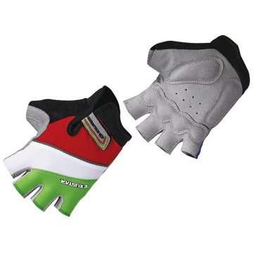 Перчатки TBS E-CG250K-GR, теплопроводящие и отражающие элементы, L,  E-CG250K-GR(L)Велоперчатки<br>При езде на горном велосипеде тело водителя находится в таком положении, что на руки оказывается большая нагрузка. Кроме того, катаясь по неровной дороге, происходит вибрация, и перчатки как ничто лучше уменьшают трение рук об руль.&amp;nbsp;  От падения с байка не застрахован никто - ни продвинутый райдер, ни начинающий малыш.&amp;nbsp;Перчатки&amp;nbsp;сгладят удар, уберегут&amp;nbsp;ладони&amp;nbsp;от повреждений.&amp;nbsp;  Яркие беспалые&amp;nbsp;перчатки&amp;nbsp;в полоску&amp;nbsp;изготовлены из&amp;nbsp;искусственной&amp;nbsp;кожи&amp;nbsp;с мягкими вставками и из прочного спандекса.     Материал:&amp;nbsp;искуственная кожа/спандекс.  Тип:&amp;nbsp;без пальцев.  Цвет:&amp;nbsp;красный/белый/зеленый.  Рисунок:&amp;nbsp;полоски.  Размер:&amp;nbsp;L (7,5х11,3см).<br>