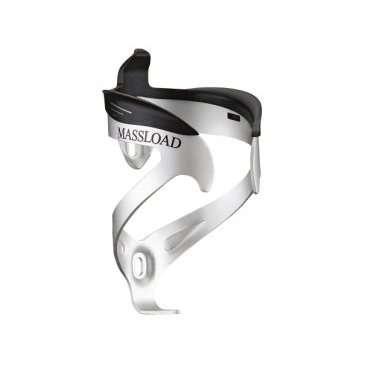 Флягодержатель велосипедный MASSLOAD CL-068L, алюминий/пластик, вес 57г, серебристый