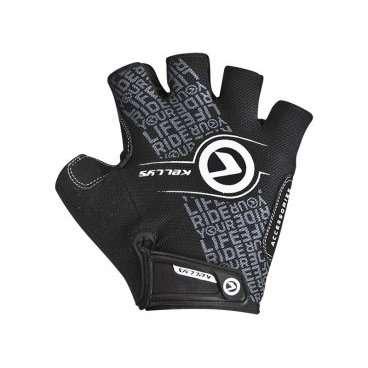 Перчатки KELLYS COMFORT, без пальцев, чёрный/белый, S, Gloves Gloves COMFORT NEW black-white S перчатки без пальцев шерстяные с рисунком розовые