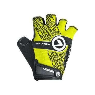 Перчатки KELLYS COMFORT, без пальцев, салатовый, XL, Gloves COMFORT NEW lime XLВелоперчатки<br>Коллекция перчаток&amp;nbsp;KELLYS COMFORTобеспечивает абсолютный контроль над управлением байком благодаря не скользящим накладкам на ладонях из синтетической кожи AMARA с мягкой набивкой.  Даже жарким днем рукам будет комфортно под перчаткой, ведь и тыльная сторона и сторона ладоней изготовлены из материалов с отличной вентиляцией. Верх - лайкра, ладонь - сетчатый полиэстер.  Удобная застежка на липучке позволит отрегулировать размер на запястье.  Тыльная сторона ладони яркая, с логотипом компании-производителя KELLYS.  Использование велоперчаток во время передвижения на велосипеде убережет руки от травм при падении и от ненавистных мозолей.     Перчатки:&amp;nbsp;KELLYS COMFORT.  Материал:&amp;nbsp;лайкра, полиэстер, синтетическая кожа.  Тип:&amp;nbsp;без пальцев.  Цвет:&amp;nbsp;чёрный, салатовый.  Размер:&amp;nbsp;ХL.<br>