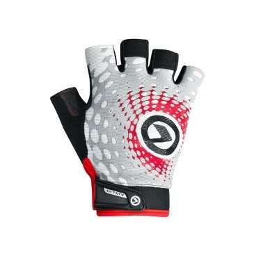 Перчатки KELLYS IMPACT SHORT Lycra, белый/серый/красный, M