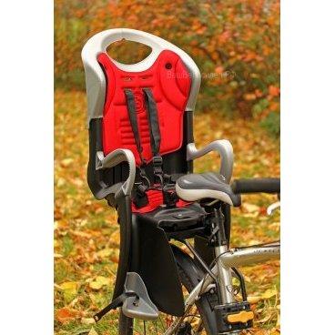 Детское велокресло на подседельный штырь BELLELLI TIGER RELAX черно-белое до 7лет/22кг 5-259854