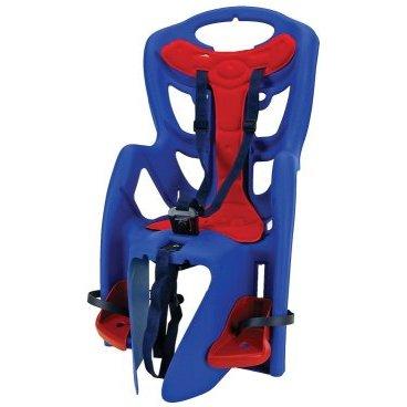 Детское велокресло на багажник BELLELLI PEPE Clamp синее, до 7лет/22кг 5-259856