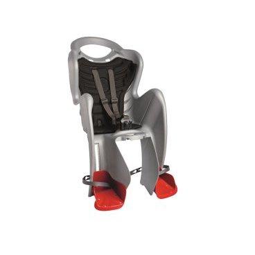 Детское велокресло на раму BELLELLI Mr Fox Clever заднее, до 7лет/22кг, серебряное, 01FXC00007