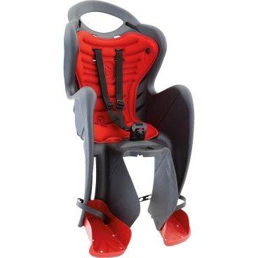 Детское велокресло на раму BELLELLI Mr Fox Clever заднее, до 7лет/22кг, тёмно-серое, 01FXC00002