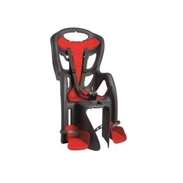Детское велокресло на багажник BELLELLI Pepe Clamp заднее, до 7лет/22кг, тёмно-серое, 01PPM00002