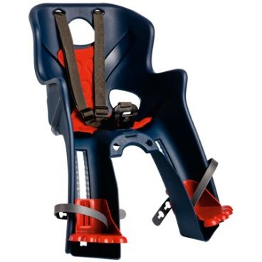 Детское велокресло на руль BELLELLI Rabbit HandleFix переднее, до 15кг, тёмно-синее, 01RBT00005