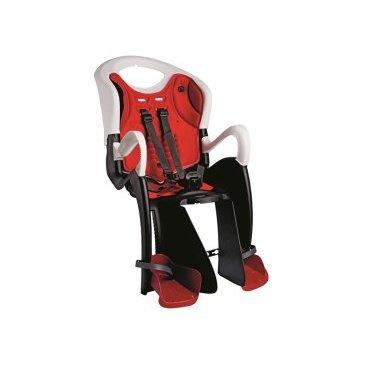 Велокресло детское BELLELLI заднее Tiger Relax, серо-белое, арт.01TGTRB0020