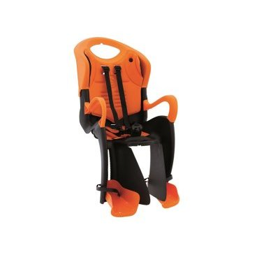 Велокресло детское BELLELLI Tiger Relax B-FIX, заднее, чёрно-оранжевое, 01TGTRB0001