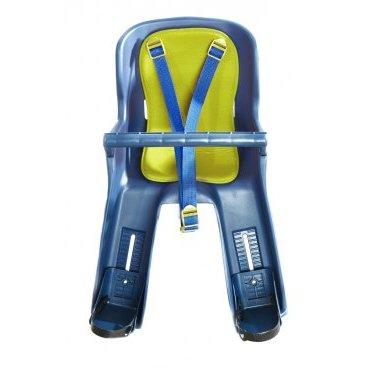 Велокресло детское на верхнюю трубу рамы, цвет накладки - синий, Тайвань VS 700 blue