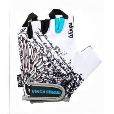 Перчатки Vinca sport VG 947, подростковые, белые, M, гелевые вставки, VG 947 Wings (M)