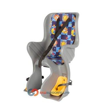 Детское велокресло на багажник M-Wave SF-928L серое до 7 лет/22кг 6-639156