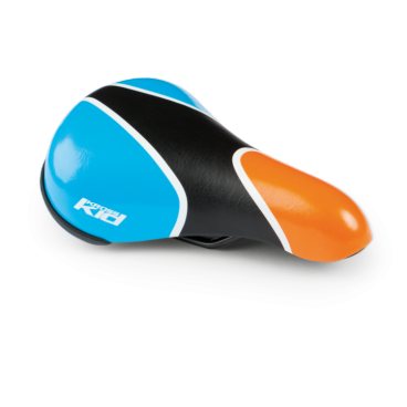 Седло велосипедное детское Kross TIKE, оранжево-синий, 217x142 мм, T4CSI000854BLOR