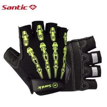 Перчатки Santic, короткие  пальцы, размер XL, черно-желтый, S35190701HXL