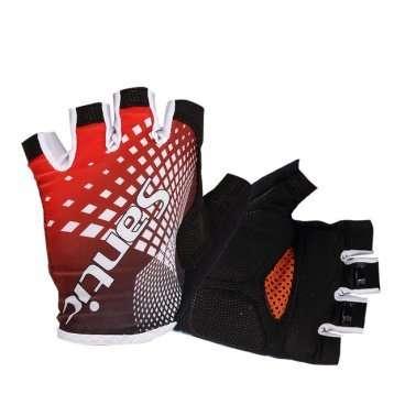 Перчатки Santic, короткие пальцы, размер XL, красный, WC09032RXL веломайка santic короткий рукав размер xxl eu xl белый m5c02076wxxl