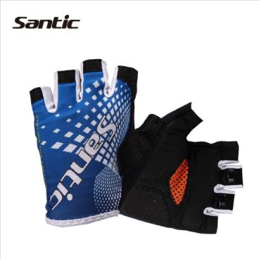 Перчатки Santic, короткие пальцы, размер XL, синий, WC09032BXL веломайка santic короткий рукав размер xxl eu xl белый m5c02076wxxl