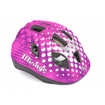 Велошлем детский Author Mirage Inmold, 48-54 cm, 12 отверстий, розово-белый, 8-9089961