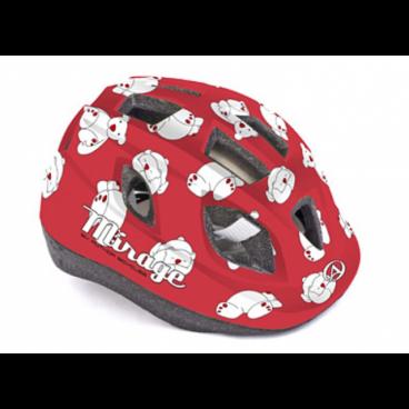 Велошлем детский Author Mirage Inmold, 48-54 cm, 12 отверстий, красный, 8-9089958 шлем author mirage детский подростковый 121 red fish inmold 11 отверстий 48 54см 8 9089951