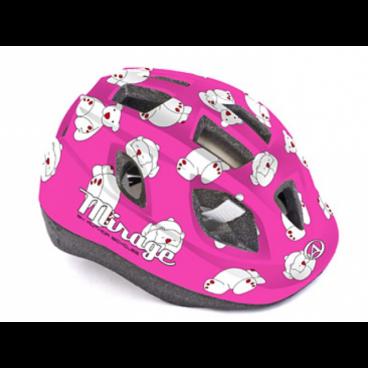 Велошлем детский Author Mirage Inmold, 48-54 cm, 12 отверстий, розовый, 8-9089957 шлем author mirage детский подростковый 121 red fish inmold 11 отверстий 48 54см 8 9089951