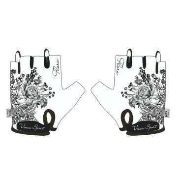 Перчатки подростковые, Flora, гелевые вставки, цвет белый, размер (S), VG 950 Flora (S)