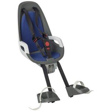 Детское велокресло переднее HAMAX CARESS OBSERVER, серый/белый/синий, 553022