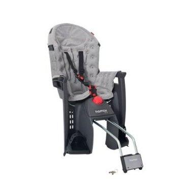 Детское велокресло на подседельную трубу HAMAX SIESTA PREMIUM, запираемый замок, серый/серый, 552515