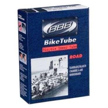 Камера велосипедная BBB, 700*28-32C, AV, защита от проколов, черная, автониппель, BTI-81