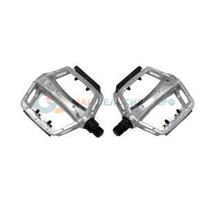 Педали VINCA VP 916, алюминиевые, ось 9/16, 100х108 мм, цвет серебристый, VP 916 silver педали велосипедные алюминиевые литые широкие резьба 9 16 черные 5 311348